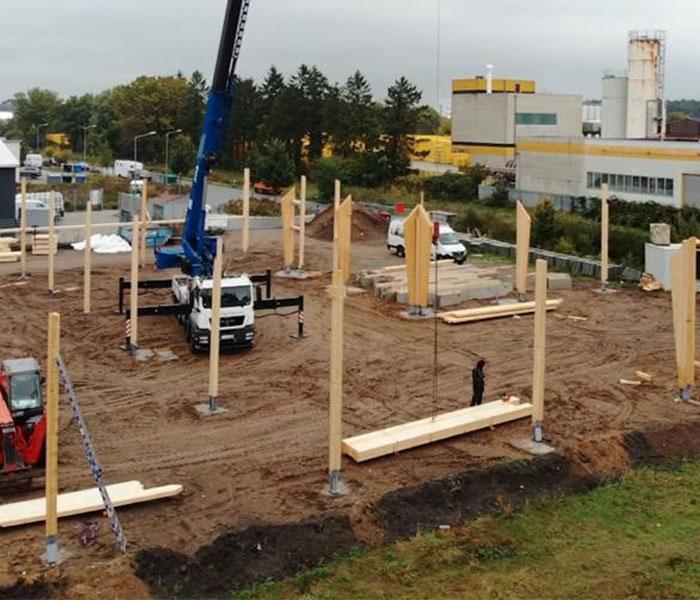 Baubeginn der Handwerkerhöfe II Wedel